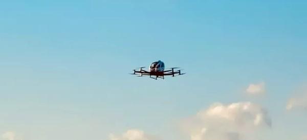 the ehang 216 in flight